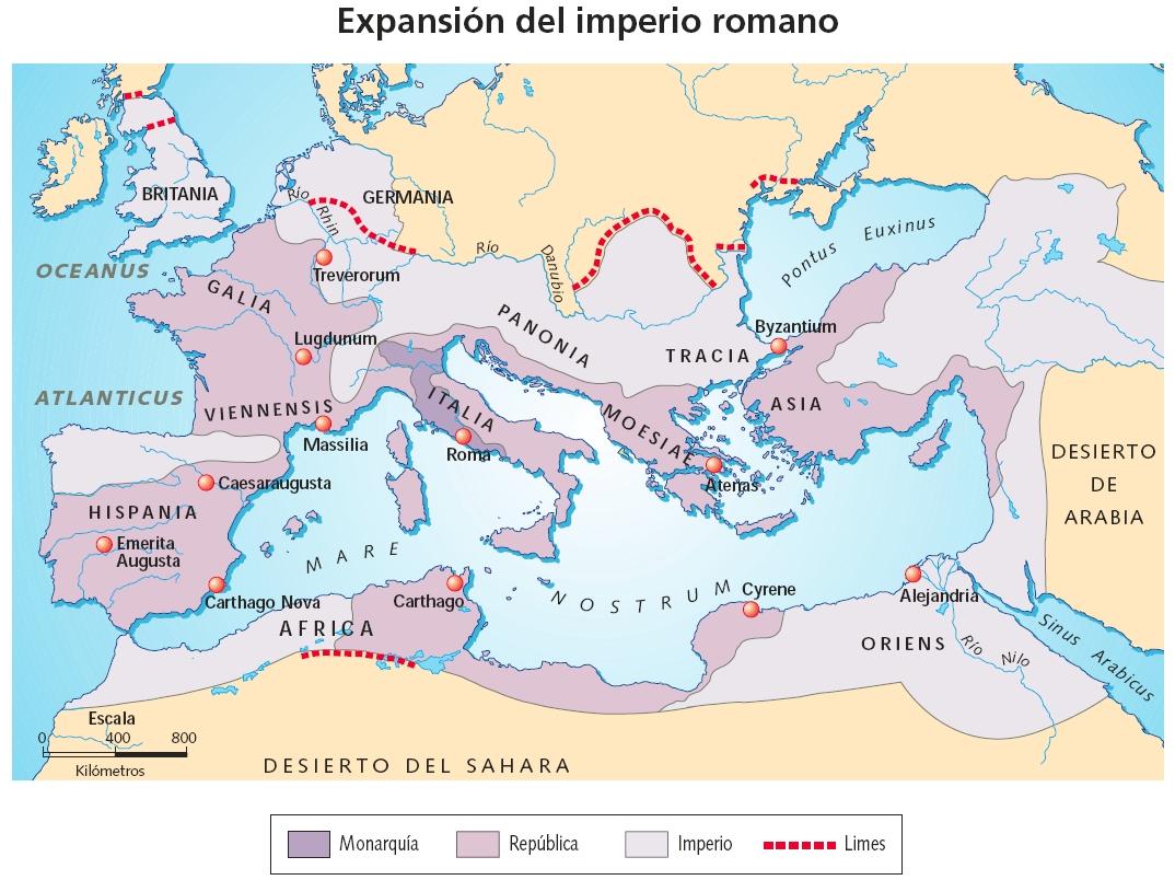 Mapa imperio romano online