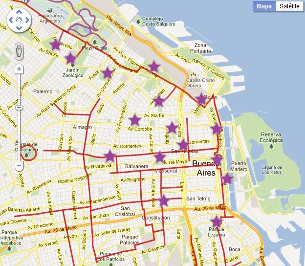 Mapa interactivo buenos aires ciclovias