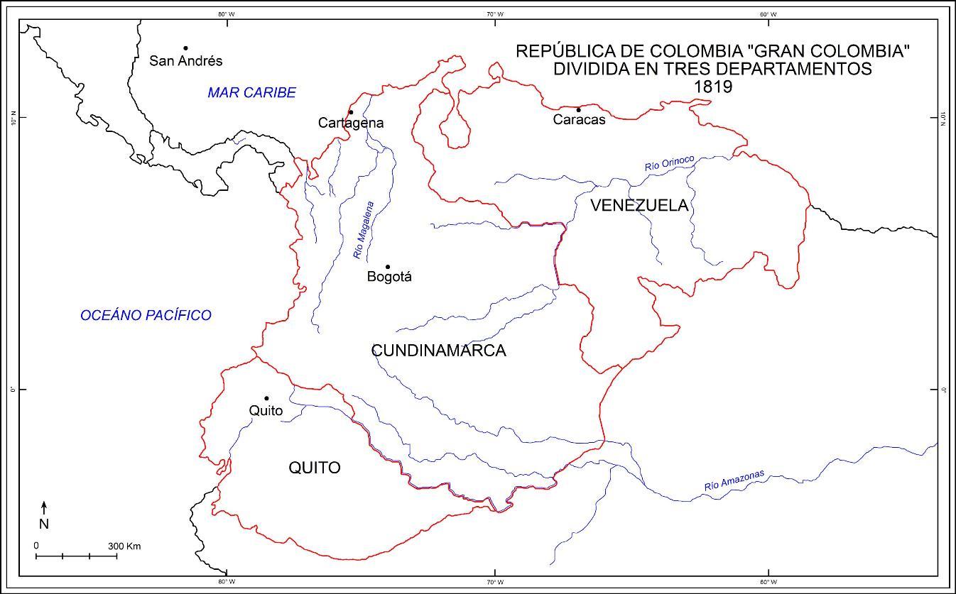 Mapa la gran colombia