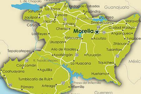 Mapa morelia