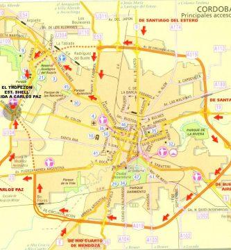 Mapa plano cordoba capital