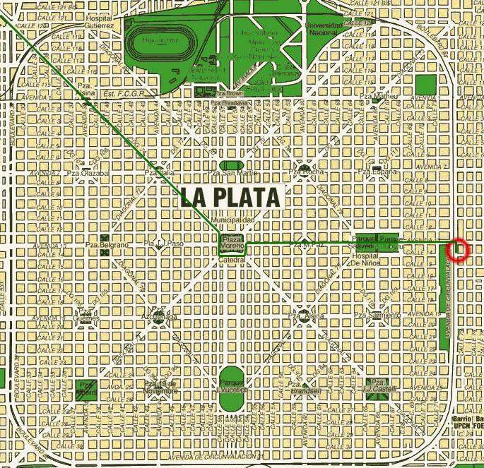 Mapa plata