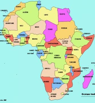 Mapa politico africa