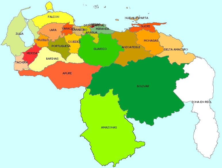 Mapa politico de venezuela ejemplos