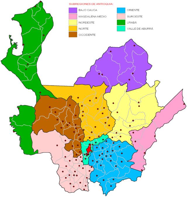 Mapa red antioquia