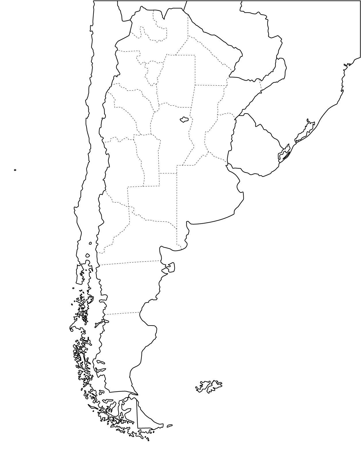 Mapa republica argentina