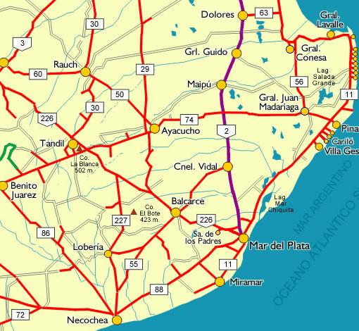 Mapa rutero grande