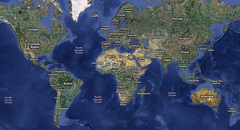 Mapa satelital en vivo