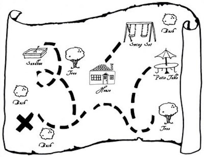 Mapa tesoro niños