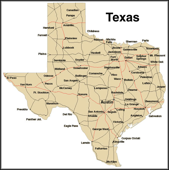 Mapa texas