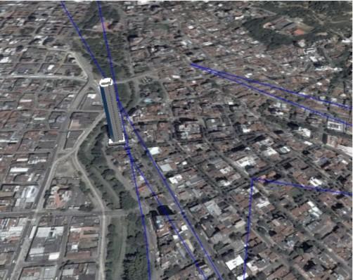 Mapa virtual azul