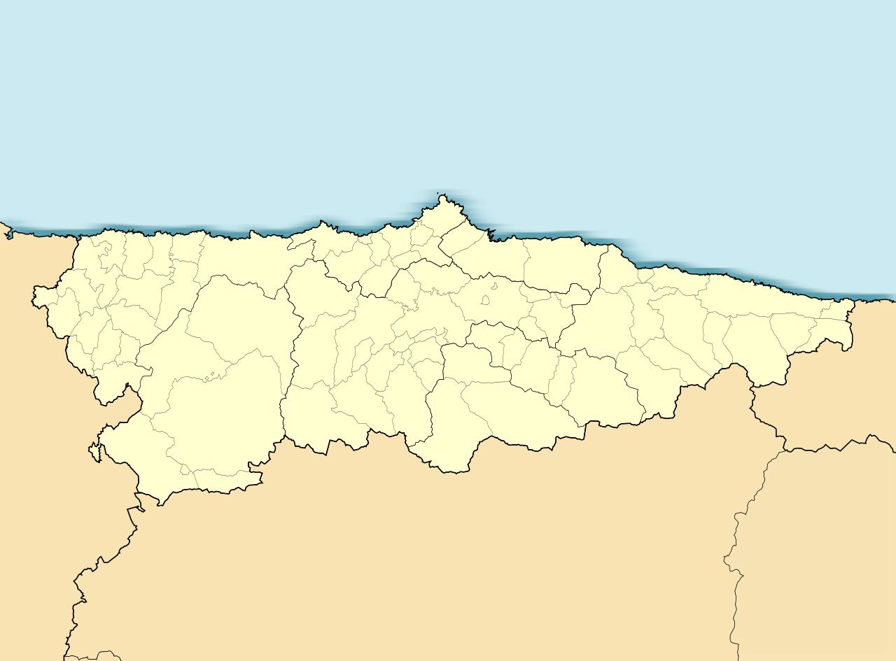 Mapa De Asturias Fisico.Mapa De Asturias