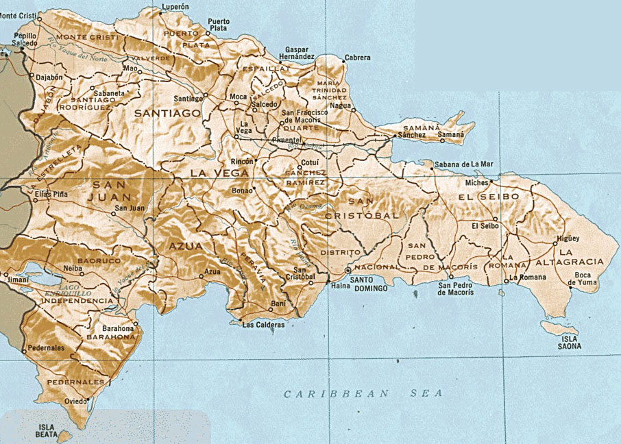 Ver Mapa de republica dominicana