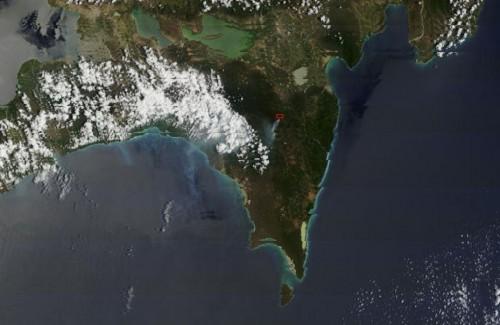 Ver el mapa de República Dominicana por satelite