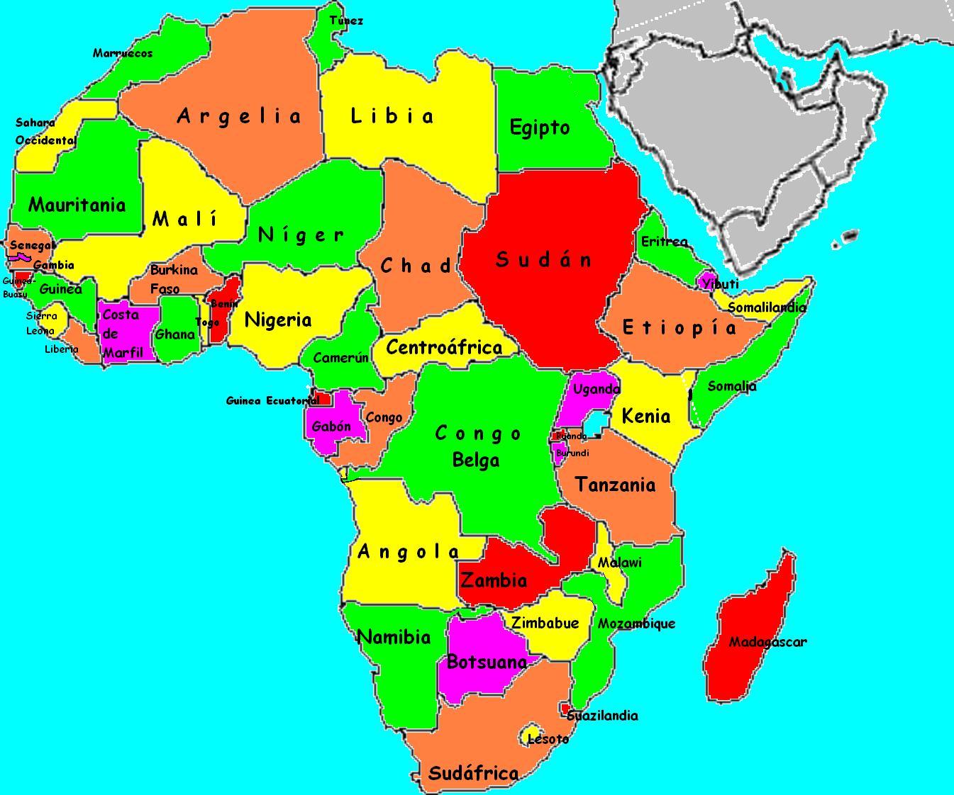 Paises De Africa Mapa Interactivo.Ver El Mapa De Africa