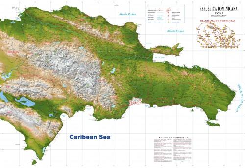 Ver el mapa de la republica dominicana via satelite, imagenes