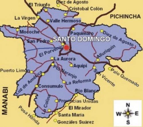 Ver el mapa de santo domingo